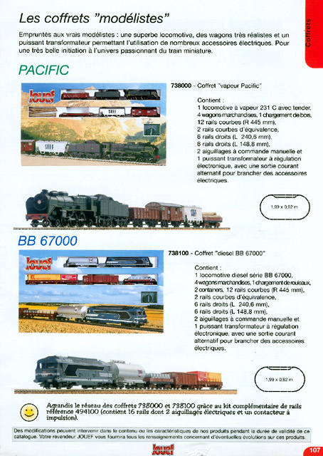 catalogue Jouef 2000-2001 page 107