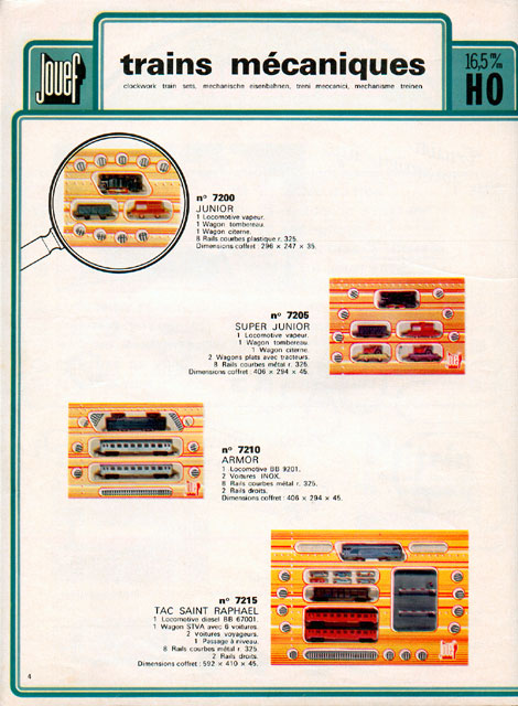 catalogue Jouef 1974 page 4