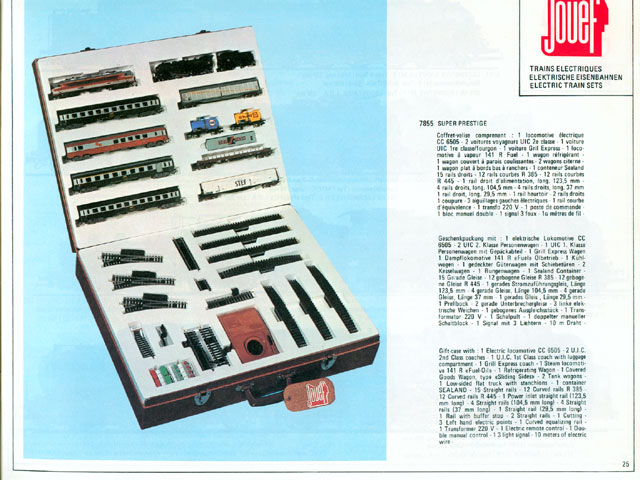 catalogue Jouef 1976 page 25