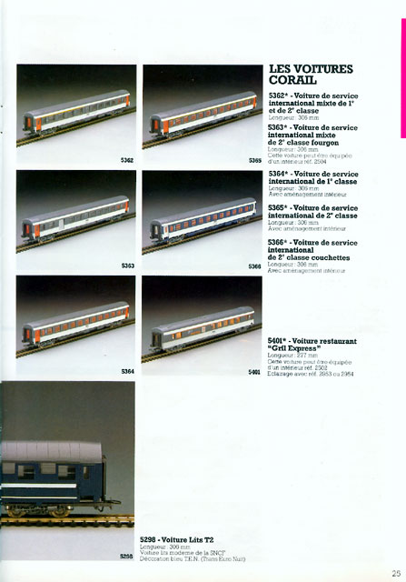 catalogue Jouef 1983 page 25
