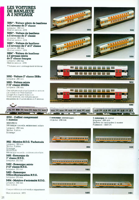 catalogue Jouef 1983 page 26