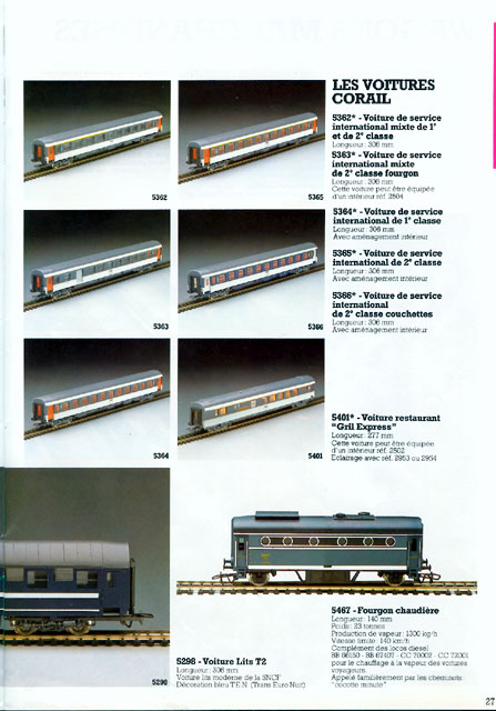 catalogue Jouef 1984 page 27