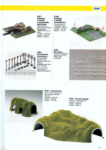 catalogue Jouef 1986 page 43