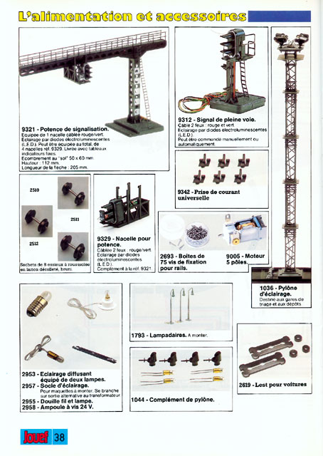 catalogue Jouef 1987 page 38