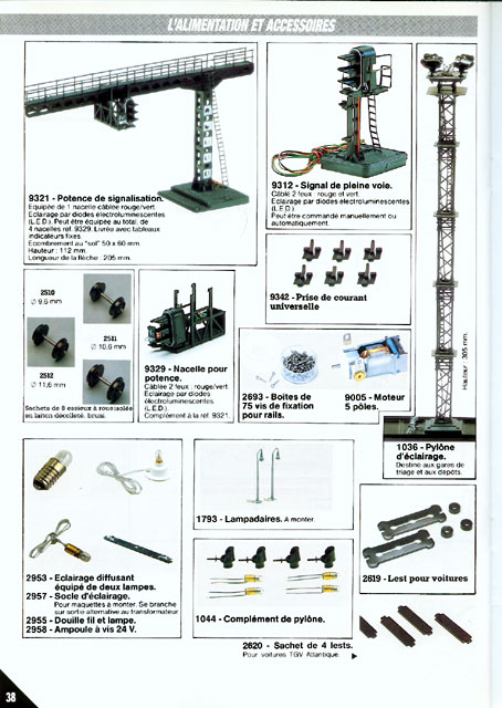 catalogue Jouef 1988 page 38