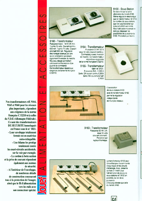 catalogue Jouef 1993 page 54
