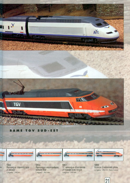catalogue Jouef 1994 page 21