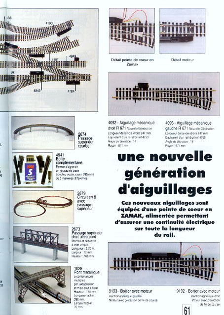catalogue Jouef 1994 page 61