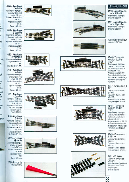 catalogue Jouef 1994 page 63
