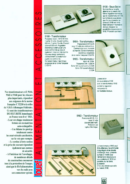 catalogue Jouef 1994 page 66