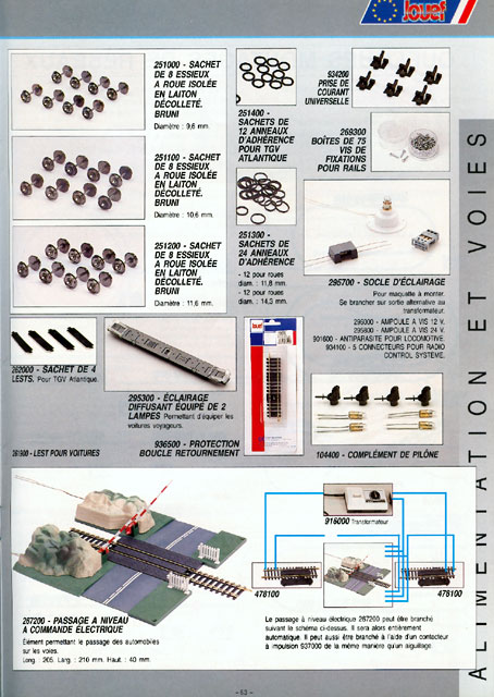 catalogue Jouef 1996 page 63