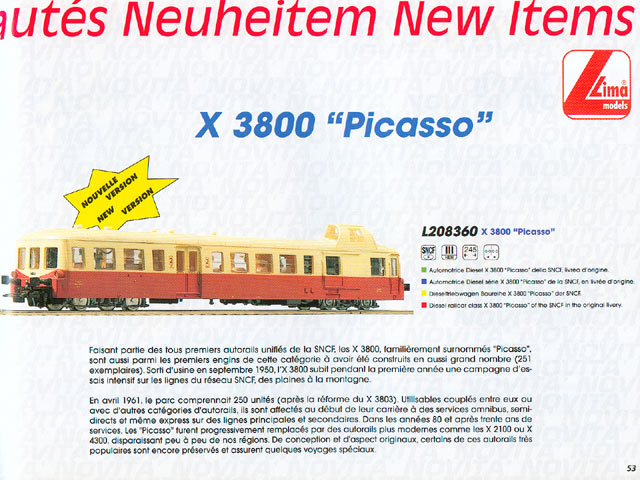 Picasso JOUEF HO 3er génération par LIMA. N02p53