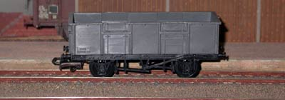 Playcraft ref. 633 2 axles open goods wagon B 280650 transport de minerai