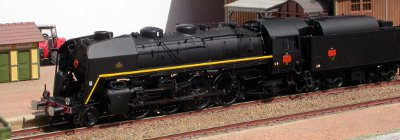 Hornby-Jouef ref. HJ2040 steam locomotive 2-8-2 R 840 SNCF