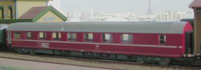 Jouef ref. 5793sleeping car WLAB 61 80 75-71 401-3 DB type T2s