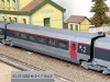 Hornby-Jouef HJ4089 intermediate trailer 2nd class TGV Paris Sud-Est SNCF