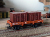 Jouef ref. 645 2 axles dropside wagon Jho 104568 SNCF, load of 2 brown containers