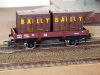 Jouef ref. 6450 2 axles dropside wagon Jho 104568 SNCF, load of 2 brown containers Bailly