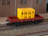 Jouef 2 axles dropside wagon brown, load of 1 container Bailly